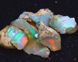 31.13Ct Multi Color Play Ethiopian Welo Opal Rough JF0719/R2