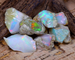 Welo Rough 47.69Ct Natural Ethiopian Play Of Color Rough Opal D0701