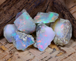 Welo Rough 50.29Ct Natural Ethiopian Play Of Color Rough Opal D0705