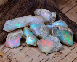 Welo Rough 52.18Ct Natural Ethiopian Play Of Color Rough Opal D0706