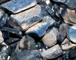 330 GRAMS MINTABIE BLACK OPAL POTCH PARCEL [BRP252]