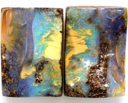 48.35CTS BOULDER OPAL PAIR TBO-A2025