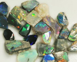 Rough Opal Lot 37.30 cts Black Opal Rubs Lightning Ridge BORB051020