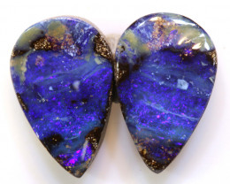 14CTS BOULDER OPAL PAIR TBO-A2057
