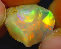 7.25Ct Multi Color Play Ethiopian Welo Opal Rough HF0819/R2