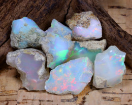 Welo Rough 47.61Ct Natural Ethiopian Play Of Color Rough Opal F0602