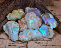 Welo Rough 54.82Ct Natural Ethiopian Play Of Color Rough Opal F0603