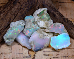 Welo Rough 51.13Ct Natural Ethiopian Play Of Color Rough Opal F0604