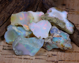 Welo Rough 53.21Ct Natural Ethiopian Play Of Color Rough Opal F0605