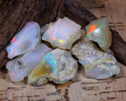 Welo Rough 49.11Ct Natural Ethiopian Play Of Color Rough Opal F0606