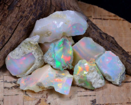 Welo Rough 60.13Ct Natural Ethiopian Play Of Color Rough Opal F0701