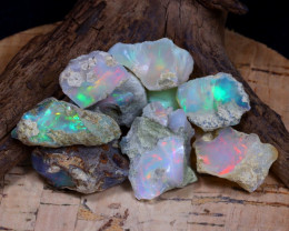 Welo Rough 57.28Ct Natural Ethiopian Play Of Color Rough Opal F0702