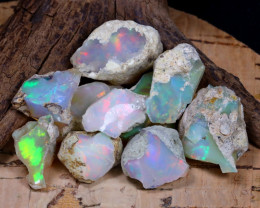 Welo Rough 62.24Ct Natural Ethiopian Play Of Color Rough Opal F0703