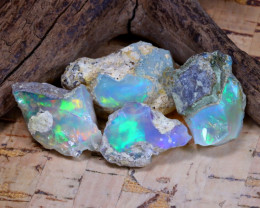 Welo Rough 39.95Ct Natural Ethiopian Play Of Color Rough Opal F0704
