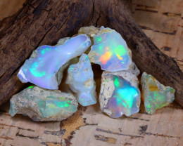 Welo Rough 45.26Ct Natural Ethiopian Play Of Color Rough Opal F0705