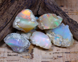 Welo Rough 42.96Ct Natural Ethiopian Play Of Color Rough Opal F0401