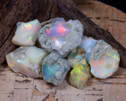 Welo Rough 52.79Ct Natural Ethiopian Play Of Color Rough Opal F0406