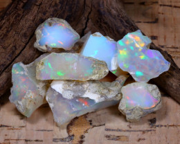 Welo Rough 49.58Ct Natural Ethiopian Play Of Color Rough Opal F0501
