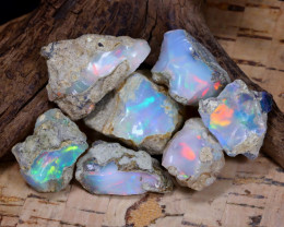 Welo Rough 59.75Ct Natural Ethiopian Play Of Color Rough Opal F0502