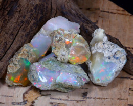 Welo Rough 53.18Ct Natural Ethiopian Play Of Color Rough Opal F0503