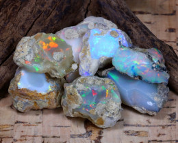Welo Rough 64.48Ct Natural Ethiopian Play Of Color Rough Opal F0504
