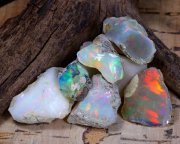 Welo Rough 59.76Ct Natural Ethiopian Play Of Color Rough Opal F0505