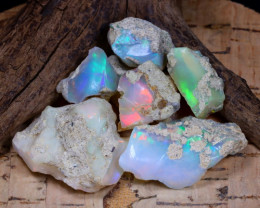 Welo Rough 67.42Ct Natural Ethiopian Play Of Color Rough Opal F0506