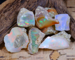 Welo Rough 53.38Ct Natural Ethiopian Play Of Color Rough Opal F0802