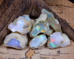 Welo Rough 53.44Ct Natural Ethiopian Play Of Color Rough Opal F0803