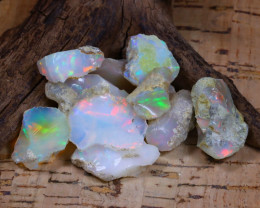 Welo Rough 58.78Ct Natural Ethiopian Play Of Color Rough Opal F0804