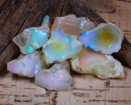 Welo Rough 53.08Ct Natural Ethiopian Play Of Color Rough Opal F0806