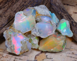 Welo Rough 53.18Ct Natural Ethiopian Play Of Color Rough Opal D0803