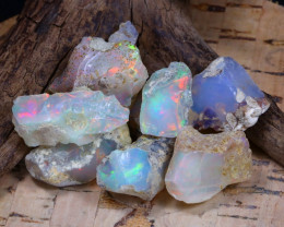 Welo Rough 55.44Ct Natural Ethiopian Play Of Color Rough Opal D0804