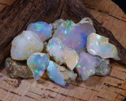 Welo Rough 66.09Ct Natural Ethiopian Play Of Color Rough Opal D0806