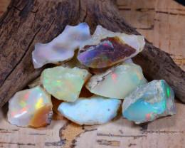 Welo Rough 51.69Ct Natural Ethiopian Play Of Color Rough Opal E0802