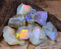 Welo Rough 51.21Ct Natural Ethiopian Play Of Color Rough Opal E0804
