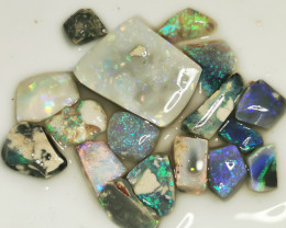 50.85 cts Rough Opal Lot Opal Rubs Lightning Ridge $1 START,  N/R AUCTION B