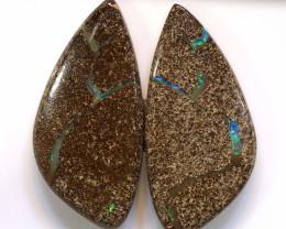 76.60 CTS  BOULDER OPAL PAIR   RO-150-raniopals