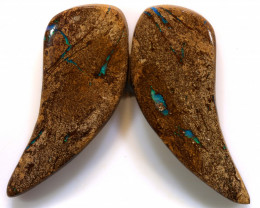 48.20 CTS  BOULDER PIPE OPAL PAIR   RO-151