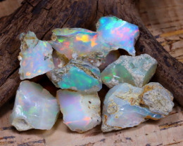 Welo Rough 45.39Ct Natural Ethiopian Play Of Color Rough Opal D1004