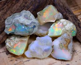 Welo Rough 56.59Ct Natural Ethiopian Play Of Color Rough Opal E1001