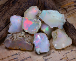 Welo Rough 50.10Ct Natural Ethiopian Play Of Color Rough Opal E1002