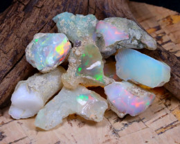 Welo Rough 49.83Ct Natural Ethiopian Play Of Color Rough Opal E1003