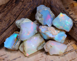 Welo Rough 41.40Ct Natural Ethiopian Play Of Color Rough Opal E1004