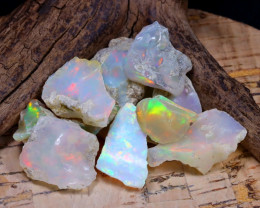 Welo Rough 43.31Ct Natural Ethiopian Play Of Color Rough Opal F1003