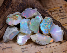 Welo Rough 52.33Ct Natural Ethiopian Play Of Color Rough Opal F1004