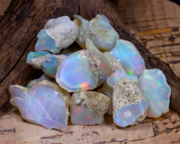 Welo Rough 48.90Ct Natural Ethiopian Play Of Color Rough Opal F1006