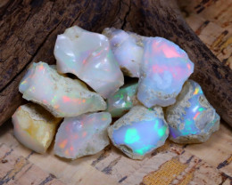 Welo Rough 42.68Ct Natural Ethiopian Play Of Color Rough Opal D0901