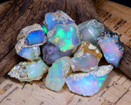Welo Rough 45.20Ct Natural Ethiopian Play Of Color Rough Opal D0902