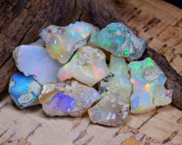 Welo Rough 48.94Ct Natural Ethiopian Play Of Color Rough Opal D0903